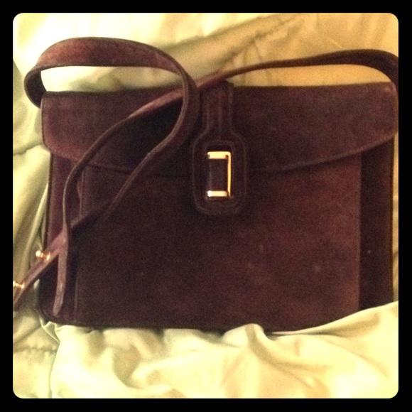 Salvatore Ferragamo Bags   Ferragamo Vintage Brown Suede Shoulder ... 16f6d2f1c1